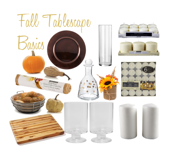 fall tablescape basics
