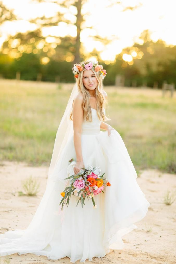 Flower Crown on Bride