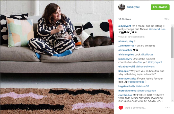 GIRLCRUSH Aidy Bryant Instagram