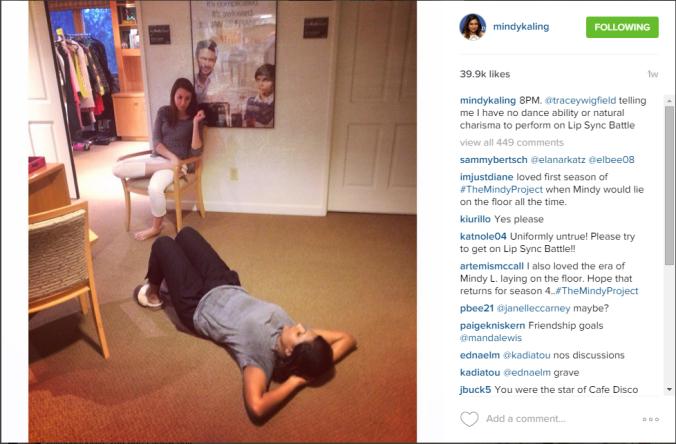 GIRLCRUSH Mindy Kaling Instagram